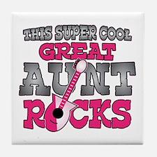 Great Aunt Rocks Tile Coaster