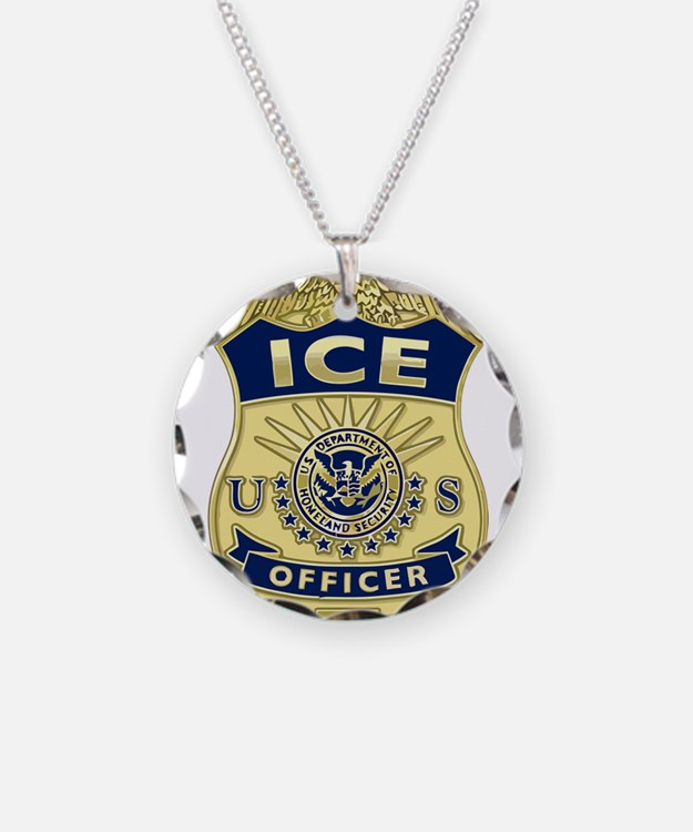 ICE Officer badge Necklace