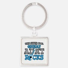 Great Aunt Rocks Square Keychain