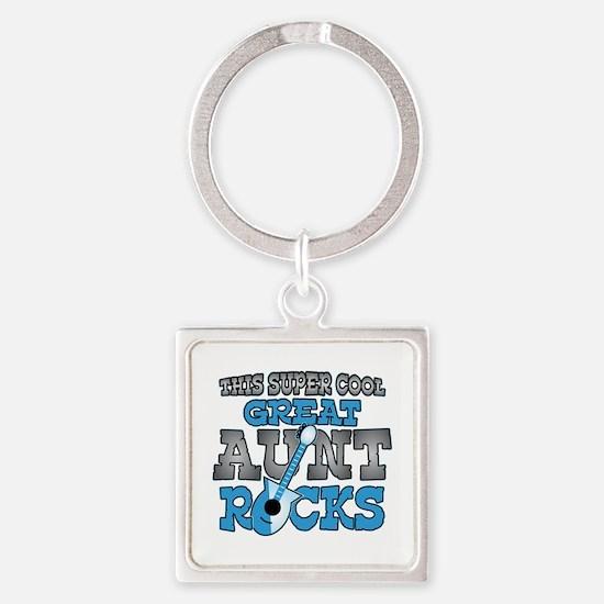 Great Aunt Rocks Square Keychain