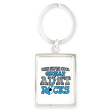 Great Aunt Rocks Portrait Keychain