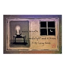 Candlelight and Silence Postcards (Package of 8)