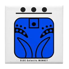 BLUE Galactic MONKEY Tile Coaster