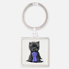 Best In Show Affenpinscher Square Keychain