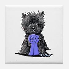 Best In Show Affenpinscher Tile Coaster