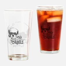 No skulls Drinking Glass
