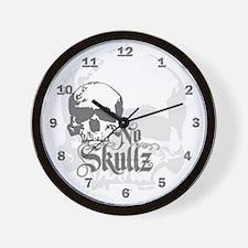 No skulls Wall Clock