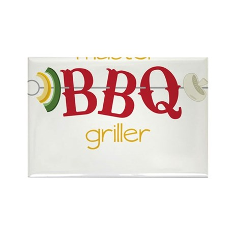 Master BBQ Griller Rectangle Magnet