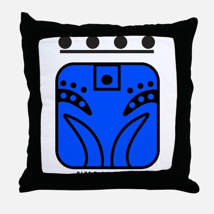 BLUE Solar MONKEY Throw Pillow