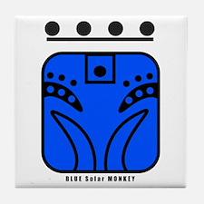 BLUE Solar MONKEY Tile Coaster