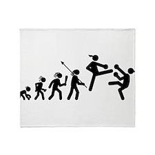 Kickboxing Throw Blanket