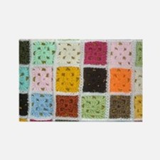 Granny Square Rectangle Magnet