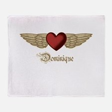 Dominique the Angel Throw Blanket