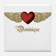 Dominique the Angel Tile Coaster