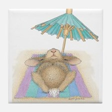 Bunny In Paradise Tile Coaster