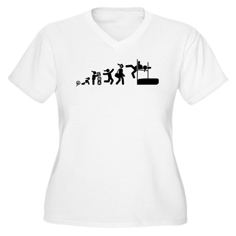High Jumping Women's Plus Size V-Neck T-Shirt