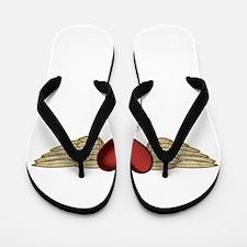 Ebony the Angel Flip Flops