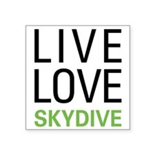 Live Love Skydive Rectangle Sticker