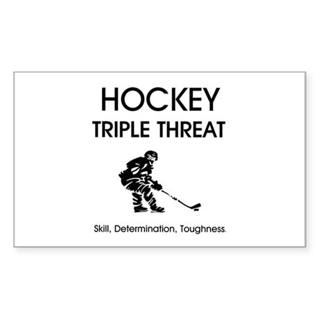 TOP Ice Hockey Slogan Sticker (Rectangle 50 pk)