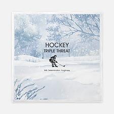 TOP Ice Hockey Slogan Queen Duvet