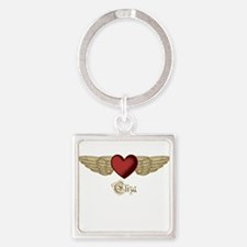 Eliza the Angel Square Keychain