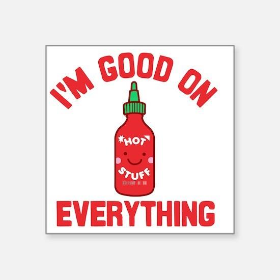 """Funny Sriracha Square Sticker 3"""" x 3"""""""