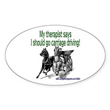 My Therapist Says... Oval Decal
