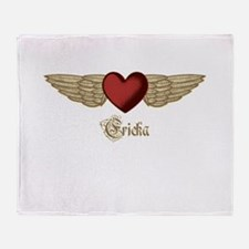 Ericka the Angel Throw Blanket
