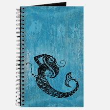 Worn Mermaid Graphic Journal