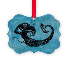 Worn Mermaid Graphic Ornament