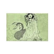 Mermaid In Shawl Rectangle Magnet
