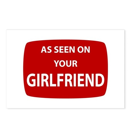 As Seen On Your Girlfriend Postcards (Package of 8