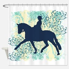 Dressage Horse And Rider Shower Curtain