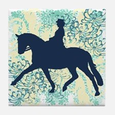 Dressage Horse And Rider Tile Coaster