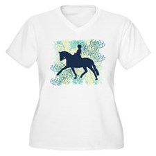 Dressage Horse And Rider Plus Size T-Shirt