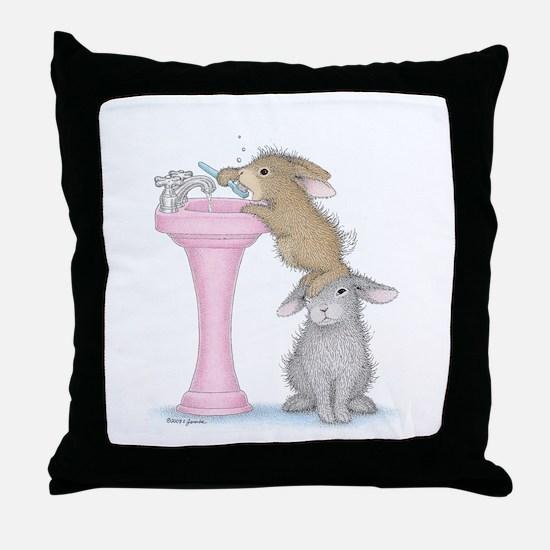 Bunny Lift Throw Pillow