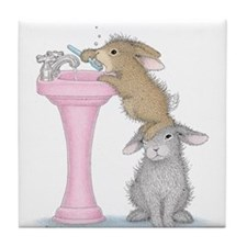 Bunny Lift Tile Coaster