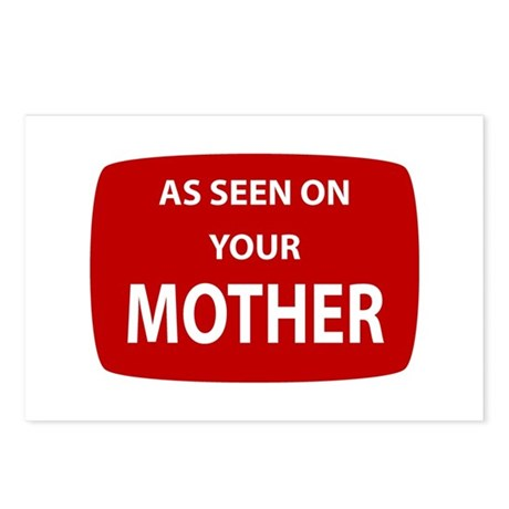 As Seen On Your Mother Postcards (Package of 8)