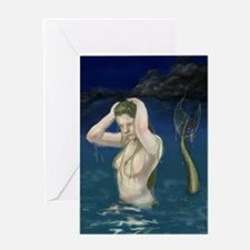 Mermaid In the Water Greeting Card
