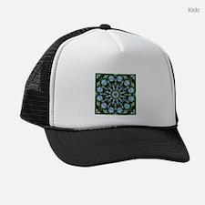 Forget-me-nots, Flower Mandala Kids Trucker hat