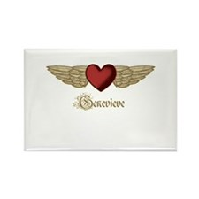 Genevieve the Angel Rectangle Magnet