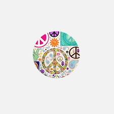 Peace Paisley Collage Mini Button
