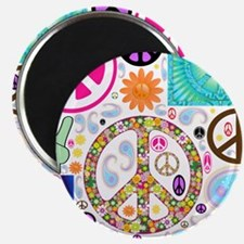 Peace Paisley Collage Magnet