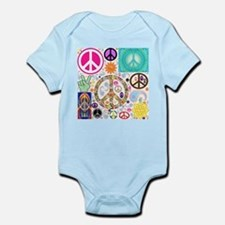 Peace Paisley Collage Body Suit