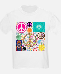 Peace Paisley Collage T-Shirt