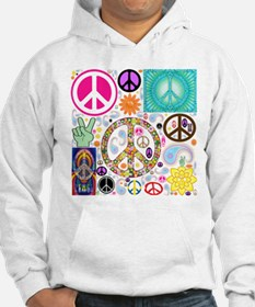 Peace Paisley Collage Hoodie