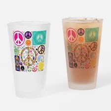 Peace Paisley Collage Drinking Glass