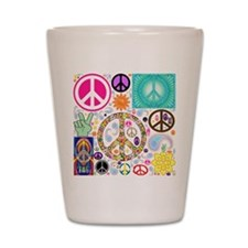 Peace Paisley Collage Shot Glass