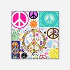Peace Paisley Collage Sticker