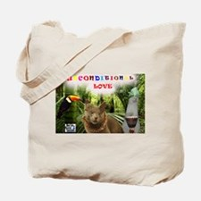 Poppy in the jungle - Unconditional Love Tote Bag